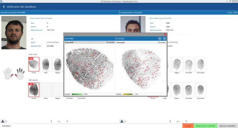 Outil d'adjudication biométrique